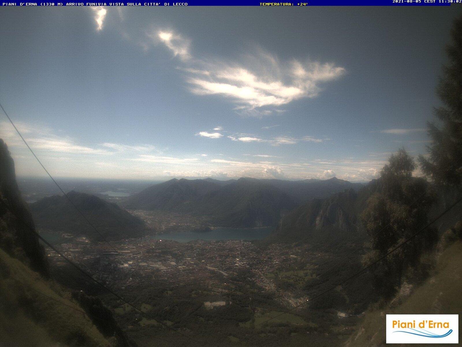 Piani Erna - Vista panoramica su Lecco