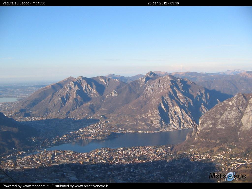 Webcam Lecco - Fronte Piani di Bobbio am Comersee